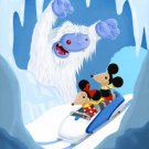 Disney WonderGround Matterhorn Mountain Mickey & Minnie Postcard Kristin Tercek