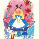 Disney WonderGround Alice In Wonderland Postcard by Joey Chou New