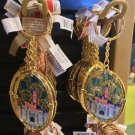Disneyland Castle Princess Aurora Sleeping Beauty Stained Glass Keychain New