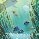Disney WonderGround Gallery Finding Dory Postcard by Joey Chou New