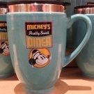 Disney Parks Mickey's Really Swell Diner Art Ceramic Travel Mug Cup New