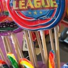 Six Flags Magic Mountain Justice League Large Candy Lollipop New