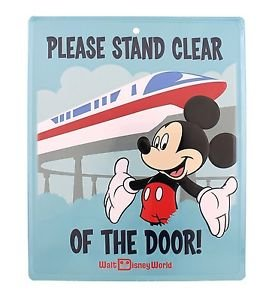 Disney Parks Walt Disney World Exclusive Mickey Mouse Monorail Tin Metal Sign