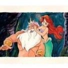 Disney Parks Little Mermaid Ariel My Flower Deluxe Print by Randy Noble New