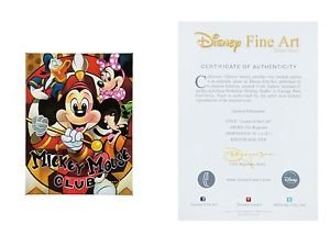Disney Parks Mickey Mouse Leader Of the Club LE Giclee by Tim Rogerson New
