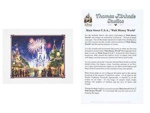 Walt Disney World Main Street USA Deluxe Print by Thomas Kinkade Studios New