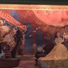 Disney Parks Beauty & The Beast Tapestry Belle Lumier Cogsworth Clock NEW