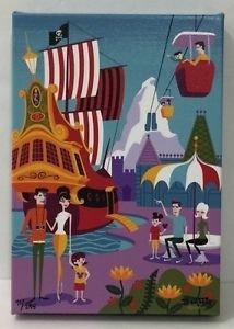 Disney WonderGround Morning In The Magic Kingdom LE Giclee Signed by Shag New