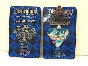 Disneyland 60th Diamond Celebration Limited Edition Stitch Pin Annual Passholder