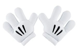 Disney Parks Mickey Mouse White Mitts Cosplay Costume Gloves New