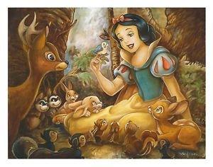 Disney Parks Snow White Forest Friends Deluxe Print by Darren Wilson New