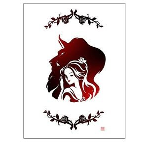 Disney WonderGround Beauty & The Beast Warmth Deluxe Print by Sho Murase New