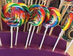 Six Flags Magic Mountain Looney Tunes Bugs Bunny 12 Mini Candy Lollipops New