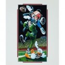 "Disney Parks Mickey Goofy Donald ""Football"" Deluxe Print by Brian Blackmore New"