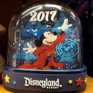 Disneyland Resort 2017 Sorcerer Mickey Mouse Double Sided Snow Globe New