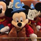 """Disney Parks Exclusive Sorcerer Mickey Mouse Plush Doll 9"""" New with Tags"""