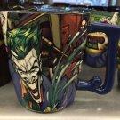 Six Flags Magic Mountain DC COMICS The Joker J Handle Ceramic Coffee Mug Cup New