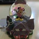 Disney Parks Toontown Minnie Mouse House Resin Snow Globe New