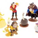 Disney Parks Beauty And The Beast Figurine Set Lumiere Cogsworth Gaston Chip New