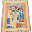 Disney Parks Beauty and The Beast Decorative Throw New and Sealed