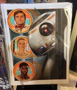 Disney WonderGround Gallery Star Wars Bb-8 and Friends Postcard Joe Corroney