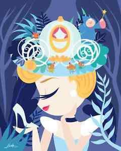 "Disney WonderGround Gallery Cinderella ""Cindy""  Postcard by Fenway Fan New"