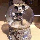 Disney Parks Mickey Mouse Black & White Travel Snow Globe New