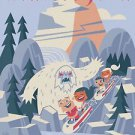 Disney WonderGround Matterhorn Mountain Bobsled Deluxe Matted Print by Ben Burch