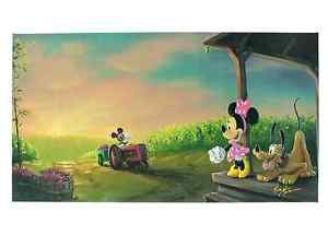 Disney Parks Mickey and Minnie Mouse Vineyard Harvest Giclee by Kaz New