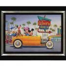 Disney Parks Mickey Mouse and Minnie Mouse Yellow Coupe Giclee by Hernandez New