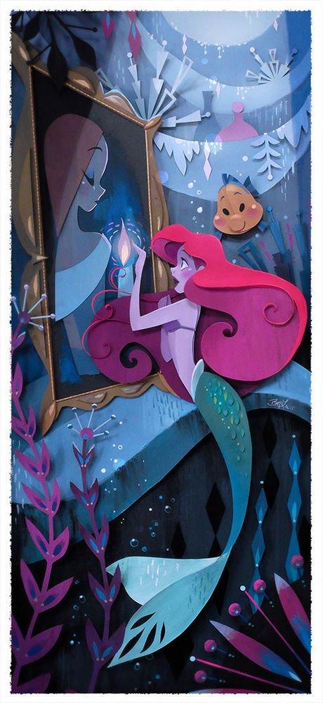 Disney WonderGround Gallery Mermaid Ariel What's A Fire Print by Brittney Lee
