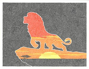 Disney WonderGround Gallery Pride Rock The Lion King by Gregg Visintainer New