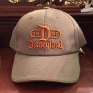 Disney Parks Disneyland D 1955 Gray and Orange Baseball Hat Cap New