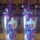 Disneyland Resort 2017 Sorcerer Mickey Mouse Travel Tumbler Cup With Straw