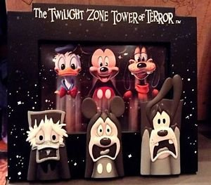 DISNEY PARKS TWILIGHT ZONE TOWER OF TERROR MICKEY DONALD GOOFY PICTURE FRAME NEW