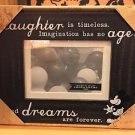Disney Parks Imagination Has No Age Wood Photo Frame Holds a 4x6 New w/ Box