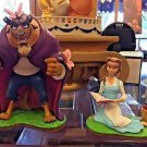 Disney Parks Beauty and The Beast Belle and Beast Medium Figure Set New
