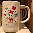 DISNEY PARKS MINNIE MOUSE SWEET AND LOVELY CERAMIC MUG NEW