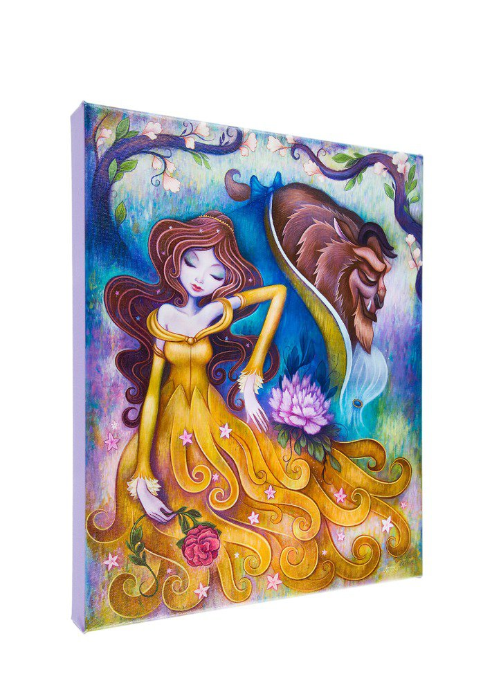 Disney Parks Beauty and The Beast Gentle Companion Canvas Print Jeremiah Ketner