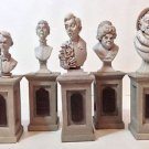 Disney Parks Haunted Mansion 45th Pillar Bust Set Figurine New in Box