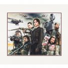 """Disney Parks Stars Wars Rogue One Rebel Deluxe Print 20""""x16"""" New"""