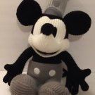Disney Parks Mickey Mouse Crochet Knit Steamboat Willie Plush New W/  Tags