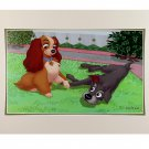 Disney Parks Lady and The Tramp Footloose and Collar Free Print by Alex Maher