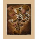 Disney Parks Mad Hatter Mickey Mouse Deluxe Matted Print by Darren Wilson New