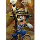 Disney Parks Explorer Mickey Deluxe Matted Print by Brian Blackmore New