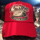 DISNEY PARKS CARS LIGHTNING MCQUEEN CHAMPIONS CUSTOM SPEED SHOP MESH HAT CAP NEW