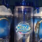 Six Flags Magic Mountain Full Throttle Attraction Tumbler With Straw New