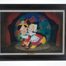 Disney Parks Pinocchio I'll Cut Strings For You Framed Giclee Signed by Williams
