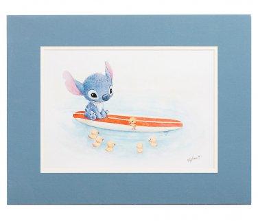 Disney WonderGround Stitch in Swimming Lessons Dexlue Print by Sydney Hanson New