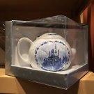 Disney Parks Cinderella's Castle Ceramic Tea Pot w/ Flower Patterns New w/ Box